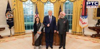 Taranjit Singh Sandhu Ambassador of India US , Credentials to Donald Trump