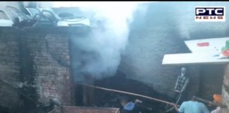 Spare part warehouse on fire in Ajnala
