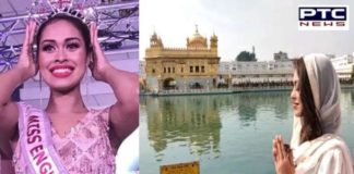 Miss England 2019 And Indian-origin doctor Bhasha Mukerjee At Golden Temple Amritsar