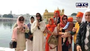 Miss England 2019 And Indian-origin doctor Bhasha Mukerjee At Golden Temple Amritsar