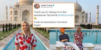 Ivanka Trump Diljit Dosanjh Tweet , Taj Mahal Visit , India Tourism