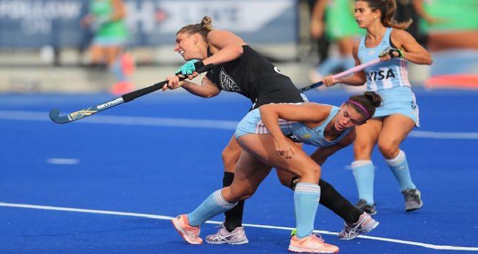 FIH Pro League 2020 , New Zealand vs Argentina Hockey , Olivia Merry