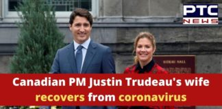 Canada PM Justin Trudeau Wife Sophie Gregoire Recovers From Coronavirus
