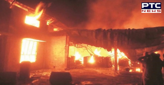 Clothes Factory Fire In Ludhiana
