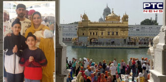 Punjab Actor Gippy Grewal With family at Golden Temple Amritsar