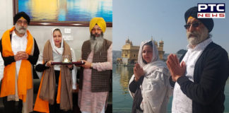 London Cabinet minister Jasbeer kaur Anand At Golden Temple in Amritsar