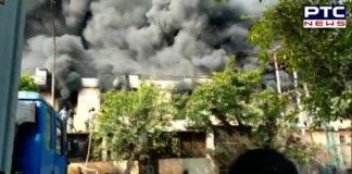 Noida Fire breaks । plastic factory Fire । Delhi news। Noida plastic factory Fire