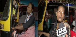 Sangeeta & Sushmita Kumari drive autorickshaw