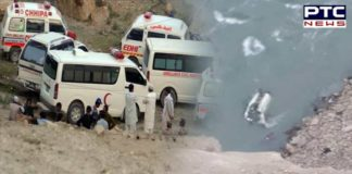 Pakistan bus accident : 26 die as bus falls into ravine in northern Pakistan