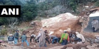 Jammu and Kashmir: Four dead, one injured after a boulder fell on a house