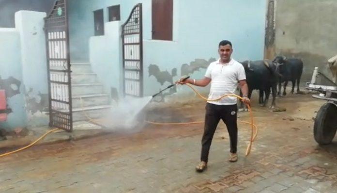 Coronavirus Haryana Villages Being sanitized by villagers
