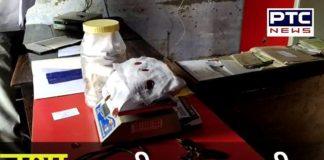 Opium smuggling through post office parcel