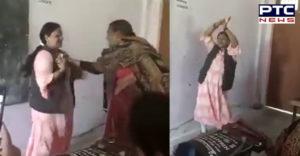 Sapna Choudhary । Teacher Dance Sapna Song । Firozabad News । School teacher dancing