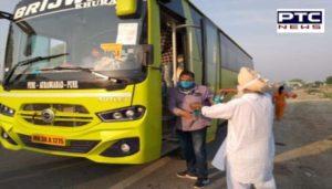With continuous efforts by Harsimrat Kaur Badal, first batch of stranded Sikh pilgrims return to Punjab from Sri Hazur Sahib