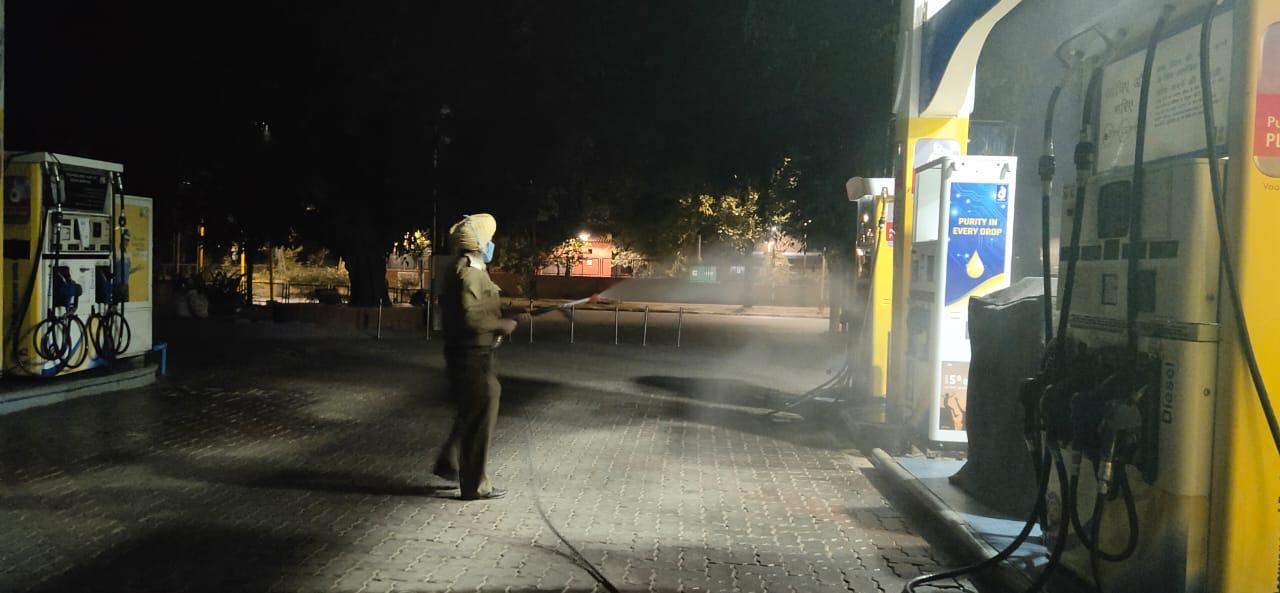 Sanitization drive being undertaking in various part of the Chandigarh city
