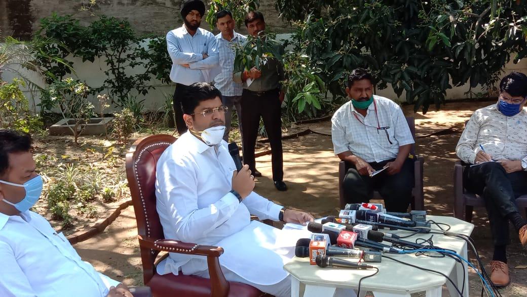 Haryana Deputy CM Dushaynt Chautala Press Conference