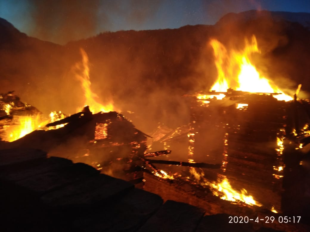 Fire Incident in Chirgaon of Shimla District   Himachal News