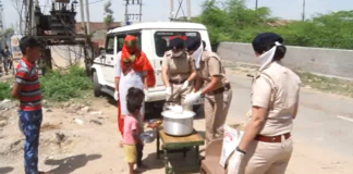Woman Police Making Food at Police Station to serve Needy