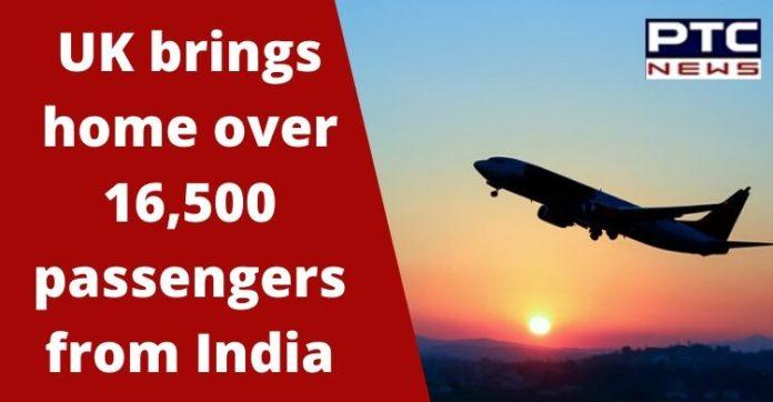 British government   UK Flies home 16,500 passengers from India   Coronavrius Lockdown
