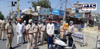 Moga: Punjab police fines people for not wearing masks