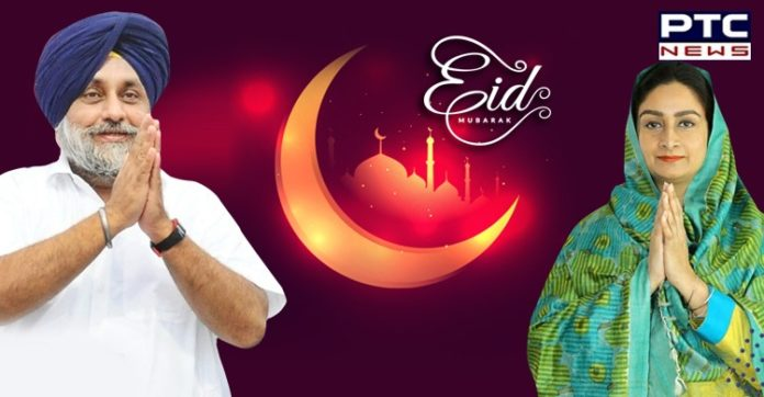 Eid ul Fitr Mubarak 2020   Sukhbir Singh Badal, Harsimrat Kaur   Narendra Modi