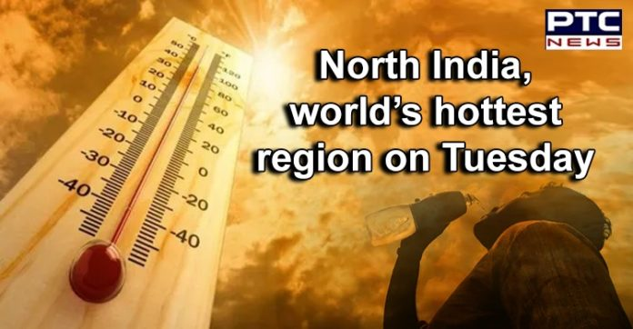 North India and South Pakistan Temperature   Intense Heatwave