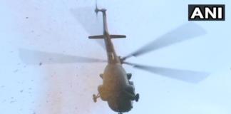 India Salutes Corona Warriors   Chopper showers flower petals