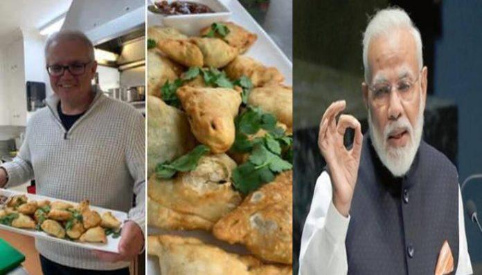 Australian PM Scott Morrison makes samosas, says wants to share it with PM Modi