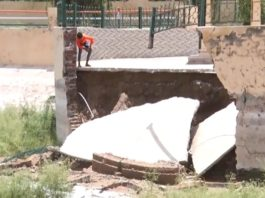 2.50 crores spent on Amti lake in washed water | Walls collapsed in first rain