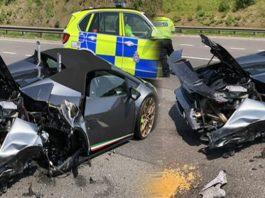 UK New Lamborghini Crashed in West Yorkshire | M1 Ossett