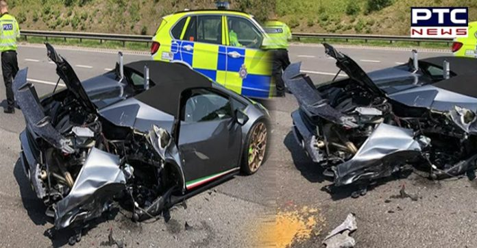 UK New Lamborghini Crashed in West Yorkshire | M1 Ossett