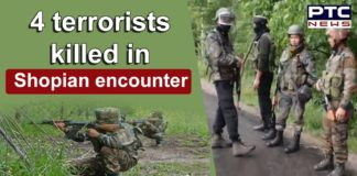 Jammu and Kashmir Shopian Encounter in Sugoo Area | 4 terrorists Killed | Indian Army
