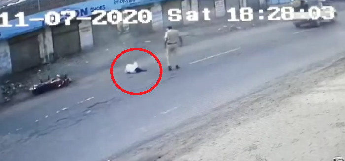 PCR rider crushes bike rider attempting to escape from police