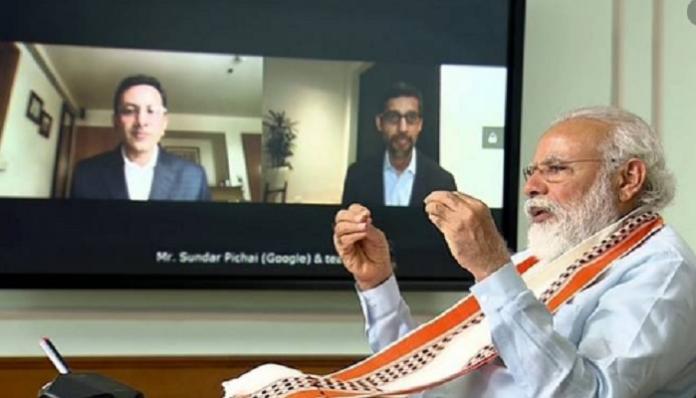 PM INTERACTS WITH GOOGLE CEO SUNDAR PICHAI