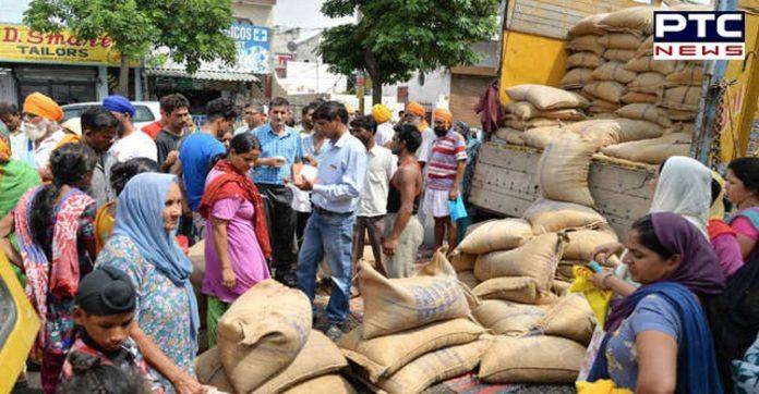 Sukhbir Singh Badal to Narendra Modi on Punjab Distribution of Food Grain and Pulses en