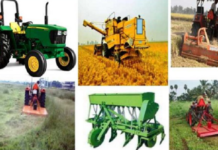 Agriculture Equipment to be provided to farmers in Haryana
