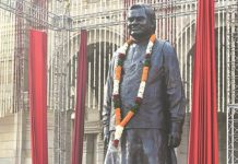 CM inspects sites for statue of former PM Atal Bihari Vajpayee