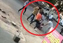 Contractors beat up a person on suspicion of liquor smuggling