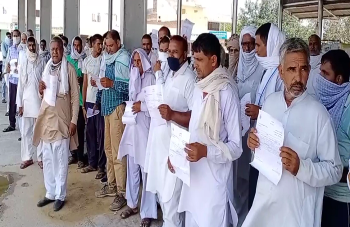Farmer Protest in Narnaund  Wheat Crop Payment