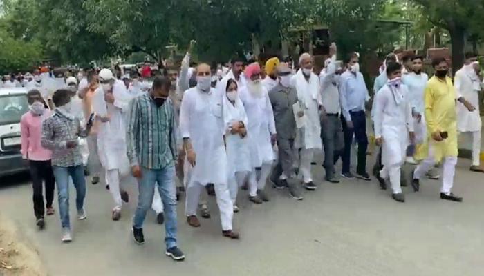 Haryana Congress statewide protest against BJP-JJP Govt