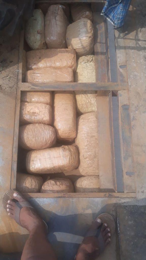 Haryana STF recover huge cache of ganja, three held