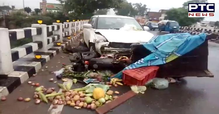 Patiala-Rajpura road accident Car hit a vegetable vendor