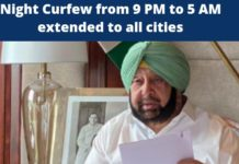Punjab CM extends 9 PM