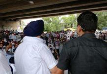 Sukhbir Singh Badal Ghanaur Protest Dharna on Spurious Liquor Punjab