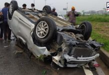 Mohali Road Accident on Chandigarh Airport Road   Man Dead