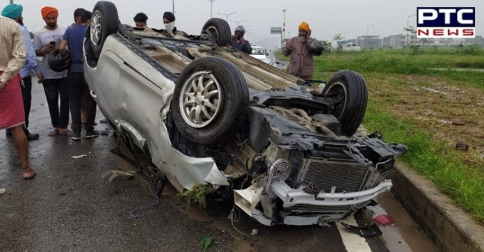 Mohali Road Accident on Chandigarh Airport Road | Man Dead