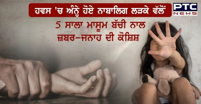 17 years old neighbor attempts rape of five year old girl