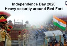 Delhi Security at Red Fort on 74th Independence Day
