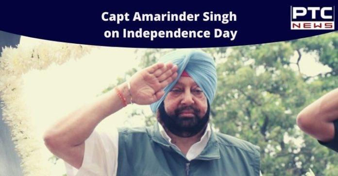 Capt Amarinder salutes Corona warriors, Capt Amarinder on Independence Day, Corona warriors on Independence Day