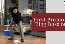 Salman Khan mopping the floor in Bigg Boss's first promo